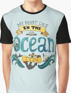 My Heart Lies in the Ocean Tide Graphic T-Shirt