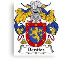 Benitez Coat of Arms/ Benitez Family Crest Canvas Print