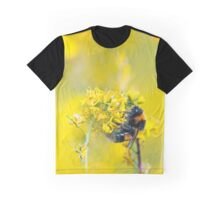 Bee Happy in Yellow Graphic T-Shirt