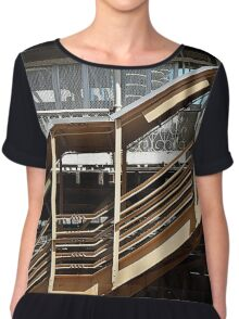 Chicago Downtown El Station  Chiffon Top