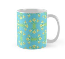 Spring Sunshine Daffodils on Aqua Mug