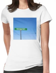 A Street Named Triceratops Womens Fitted T-Shirt