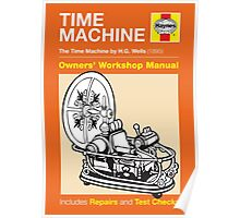 Haynes Manual - HG Wells Time Machine - Poster & stickers Poster