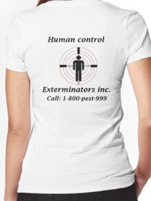 Exterminators Women's Fitted V-Neck T-Shirt