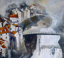 Light on Roxby Beck, Staithes by Sue Nichol