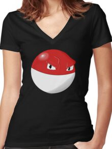 Pokemon Voltorb Women's Fitted V-Neck T-Shirt
