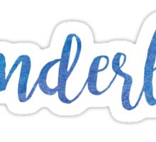 Wanderlust Blue Sticker