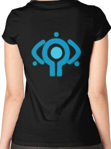 serial experiment lain copland OS enterprise logo Women's Fitted Scoop T-Shirt