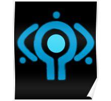 serial experiment lain copland OS enterprise logo Poster