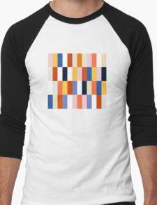 Nice Colorful retro Fashion Pattern Original Design Men's Baseball ¾ T-Shirt