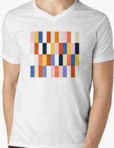 Nice Colorful retro Fashion Pattern Original Design Mens V-Neck T-Shirt
