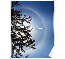 sun halo and plane shadow Poster