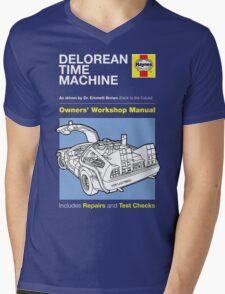 Haynes Manual - Delorean - T-shirt Mens V-Neck T-Shirt