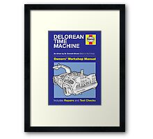 Haynes Manual - Delorean - Poster & stickers Framed Print