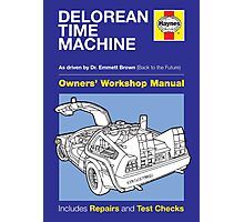 Haynes Manual - Delorean - Poster & stickers Photographic Print