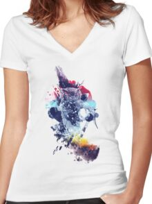 soulful owl Women's Fitted V-Neck T-Shirt