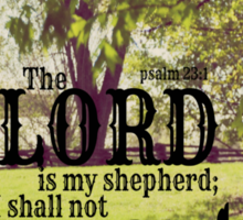 Psalm 23 Lord Shepherd Sticker