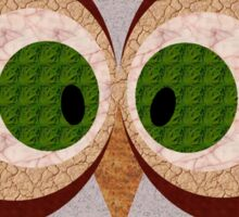 Owl - random textures Sticker