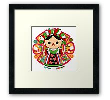 Maria 5 (Mexican Doll) Framed Print