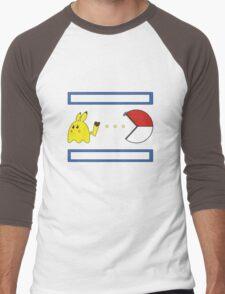 Pac-Achu Men's Baseball ¾ T-Shirt