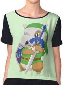 Cubone's cosplay Chiffon Top