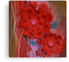 Winters red loving embrace, I love me Canvas Print