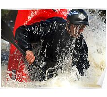 Whitewater playboater Poster