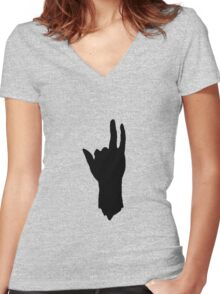 I shoot with my heart Women's Fitted V-Neck T-Shirt