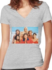 Baywatch Women's Fitted V-Neck T-Shirt
