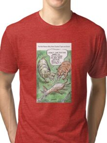 Extinct Series - The Real Reason Why Sabre-Toothed Tigers are Extinct Tri-blend T-Shirt