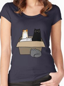 Cats in a Box Women's Fitted Scoop T-Shirt