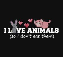 I love animals so I don't eat them  Baby Tee