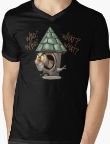 Archimedes Who Who What What? Mens V-Neck T-Shirt