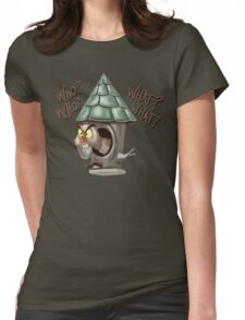 Archimedes Who Who What What? Womens Fitted T-Shirt