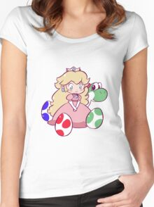 Little Peach and Yoshi Women's Fitted Scoop T-Shirt
