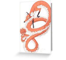 Kitsune Dragon Greeting Card