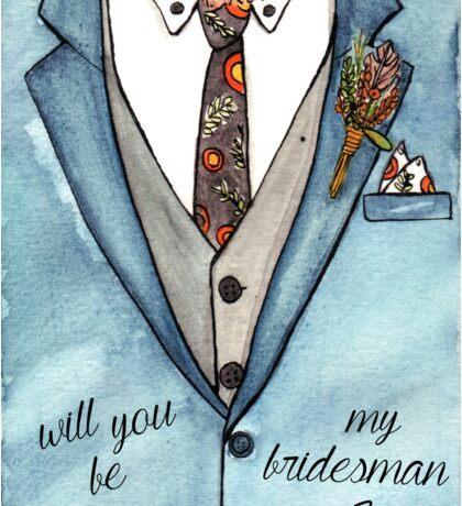 Bridesman Sticker