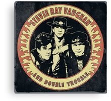Stevie Ray Vaughan & Double Trouble Vintage Canvas Print