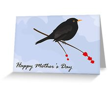 Happy Mother's Day / Blackbird Greeting Card