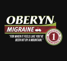 Oberyn Martell Migraine tablets - for when it feels like you've been hit by a mountain. (Excedrin parody) by MalcolmWest