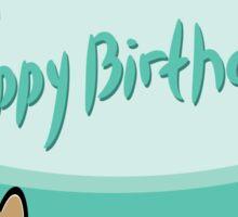 Happy birthday card animals Sticker