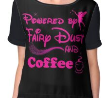 Powered By Coffee Tshirt Chiffon Top