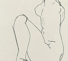 Prostrate female nude by Bridgeman Art Library