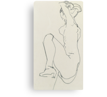 Prostrate female nude Canvas Print