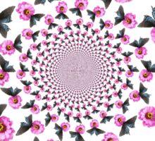 Butterfly on Flower Kaleidoscope  Sticker