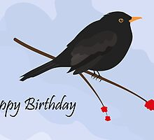 Happy Birthday / Blackbird by Jacqueline Turton