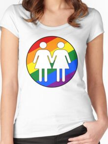 Girl + Girl Pride Women's Fitted Scoop T-Shirt