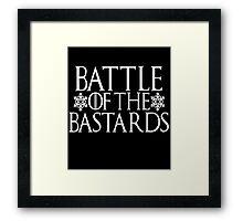 Battle of the Bastards #battleofthebastards Game Thrones Stark Bolton Snow Sansa Framed Print