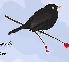 Thank you / Blackbird by Jacqueline Turton