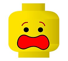 Lego Scared Face Photographic Print
